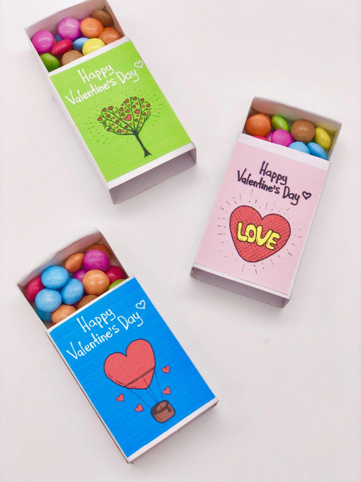 DIY Streichholzschachteln basteln zum Valentinstag