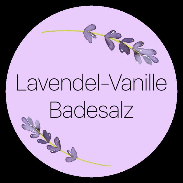 Etiketten Vorlagen für das Badesalz in lila