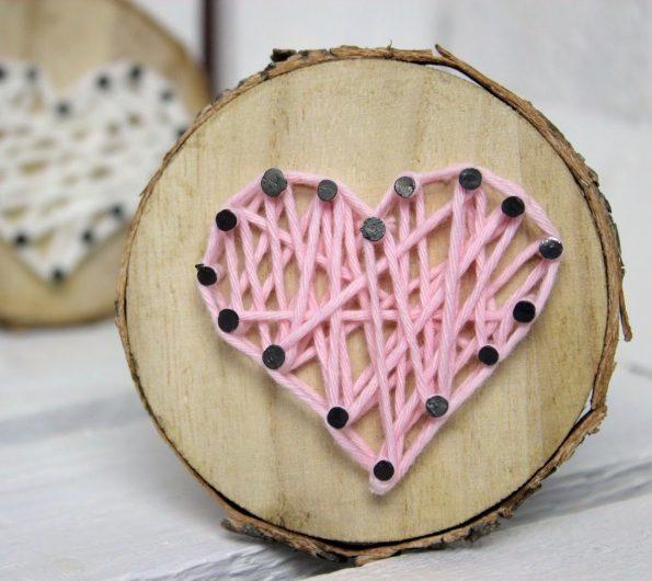 Geschenke für ihn: Baumscheibe in String Art
