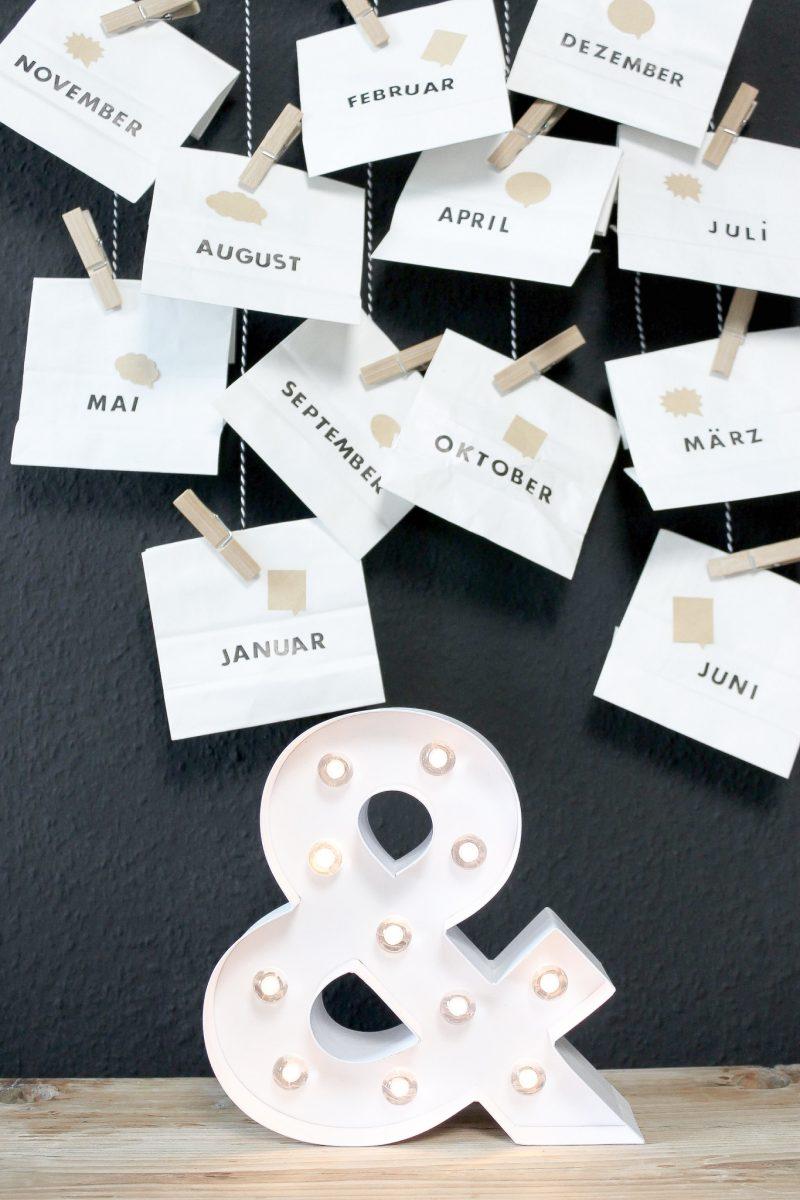 Selbst gemachter Date Kalender - schönes Geschenk für ihn