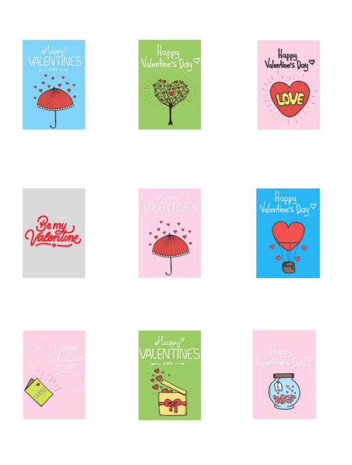 Valentinstag Vorlagen Streichholzschachteln