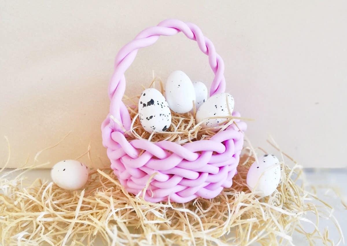 Geschenke Zu Ostern Osterkörbchen Basteln Aus Fimo
