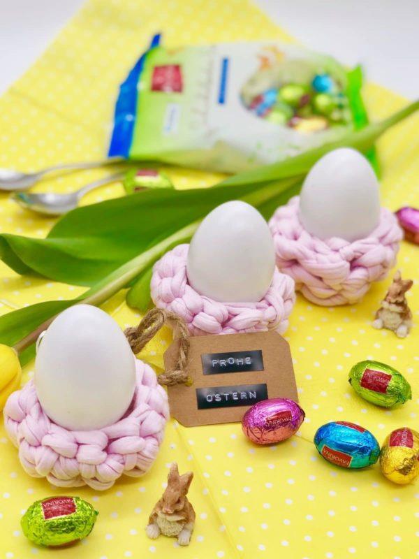 Eierbecher häkeln - einfach und schnell