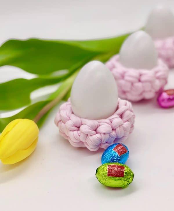 Eierbecher häkeln - einfache Anleitung