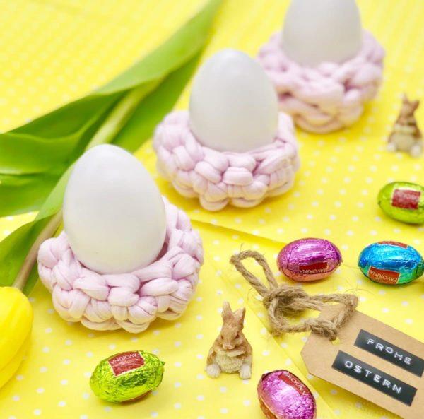 Perfekte Idee für Ostern: Eierbecher häkeln