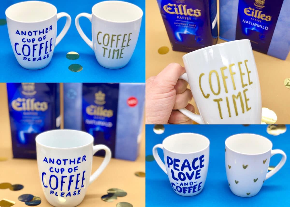 Porzellan bemalen mit Eilles Kaffee