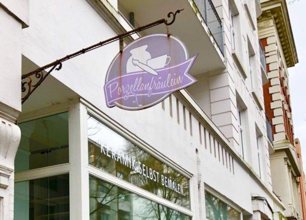 Porzellan selbst bemalen mit Eilles Kaffee im Porzellanfräulein in Hamburg i