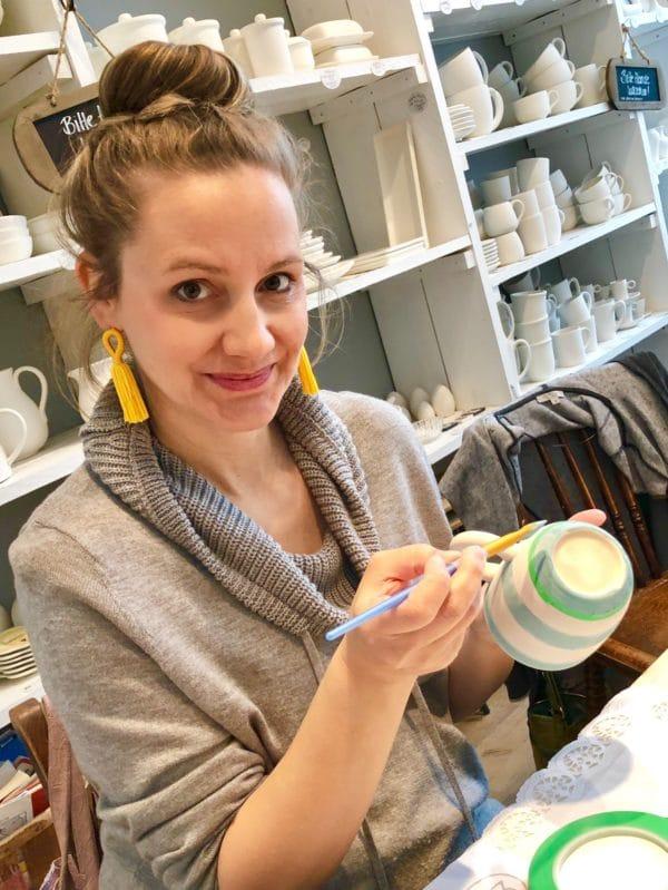Spaß an der Kreativität: Workshop mit Eilles Kaffee im Porzellanfräulein