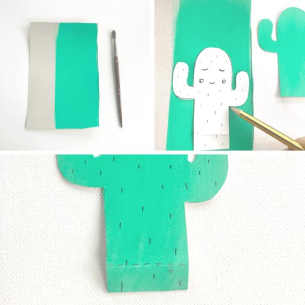 DIY Einladungskarten für den Kindergeburtstag mit Kaktus Motiv