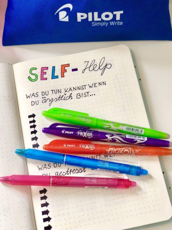 Kreative Bullet Journal Vorlagen erstellen mit Pilot FriXion Stiften gestalten