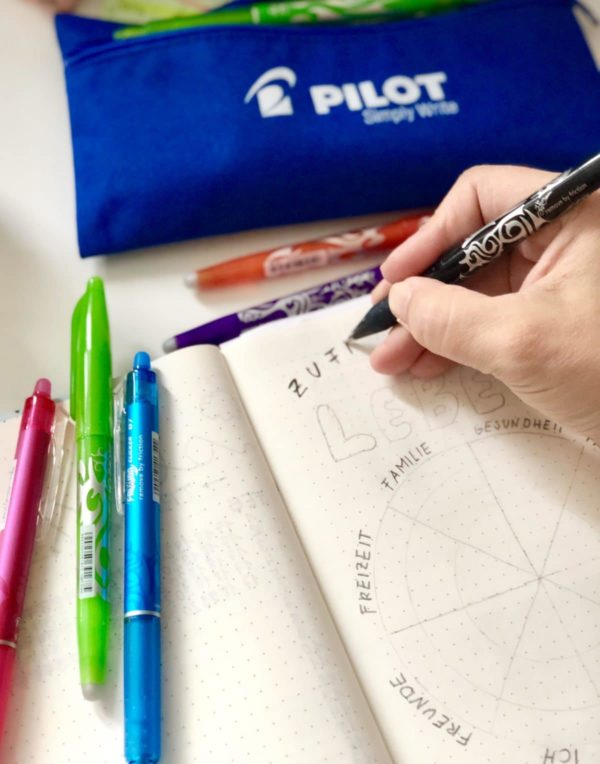Kreative Idee für Dein Bullet Journal: das Lebensrad