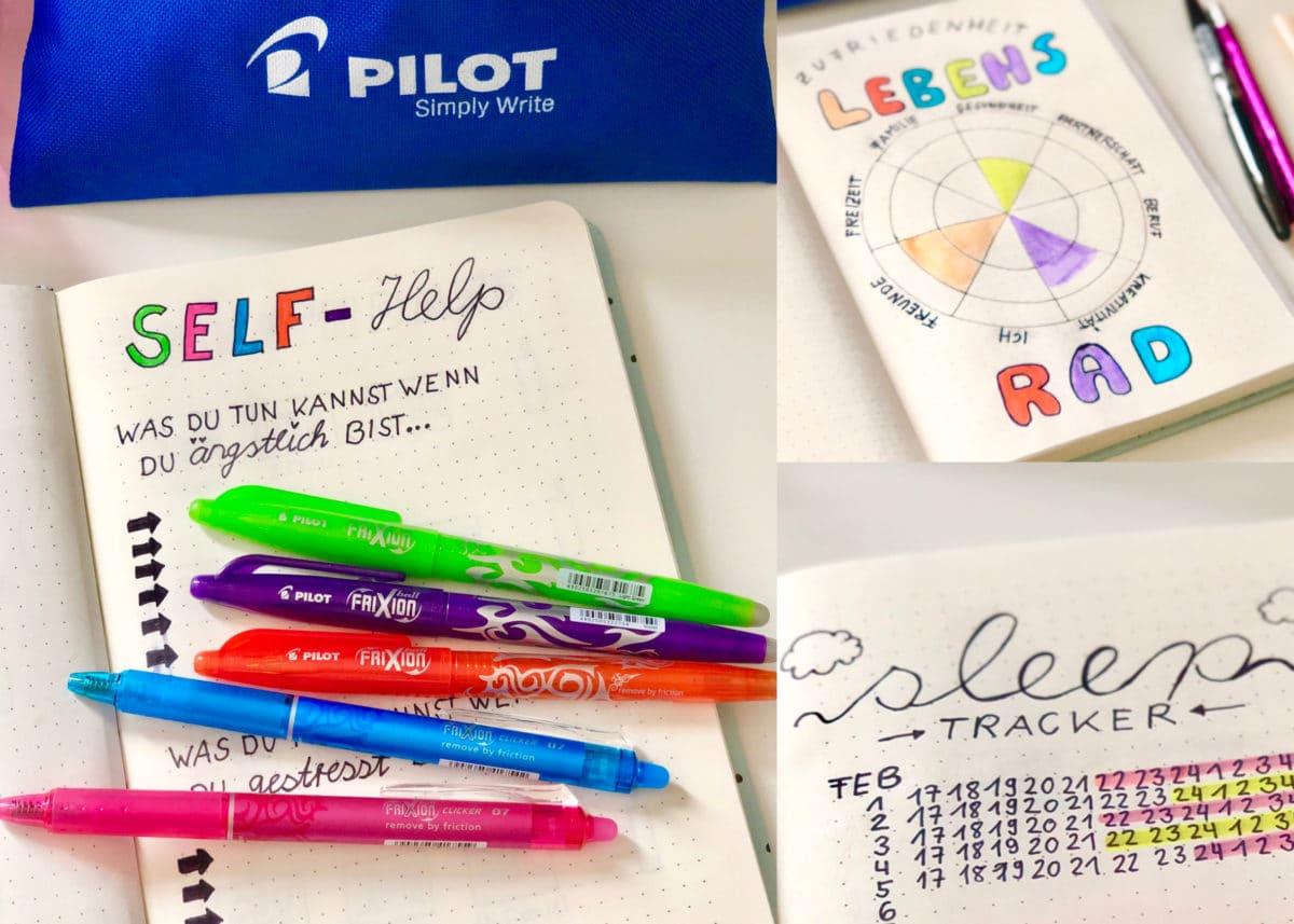 Kreative Ideen für Bullet Journal Vorlagen mit Pilot Stiften