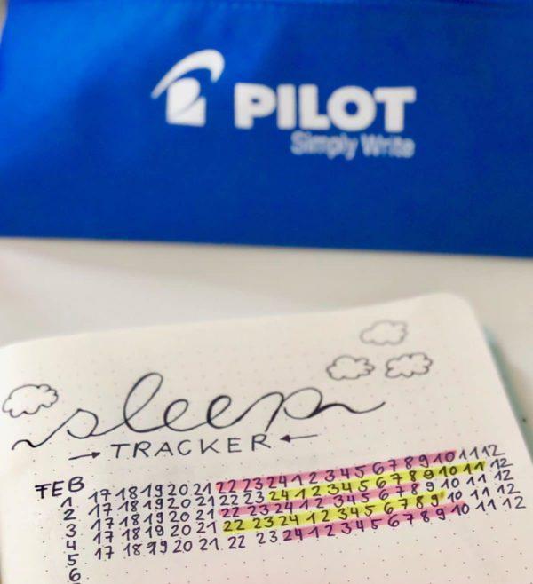 Schlaf Gewohnheiten im Bullet Journal festhalten