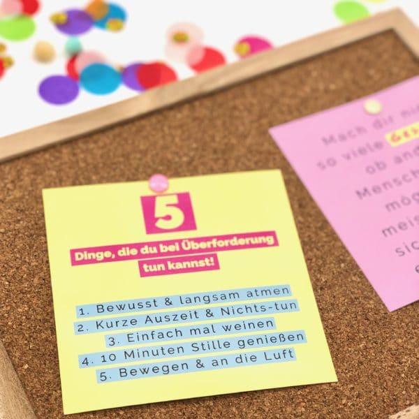 12 Shop Gluecks Karten fuer Pinnwand