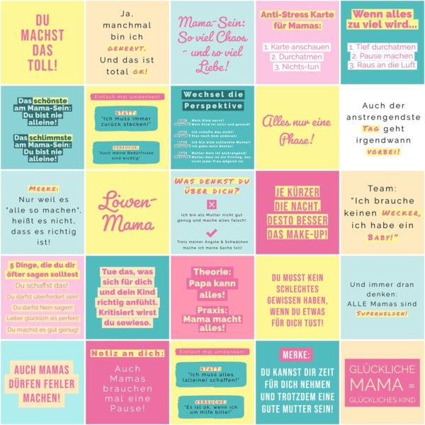 25 Mutmacher Glücks KartenCollage-Karten-Mama