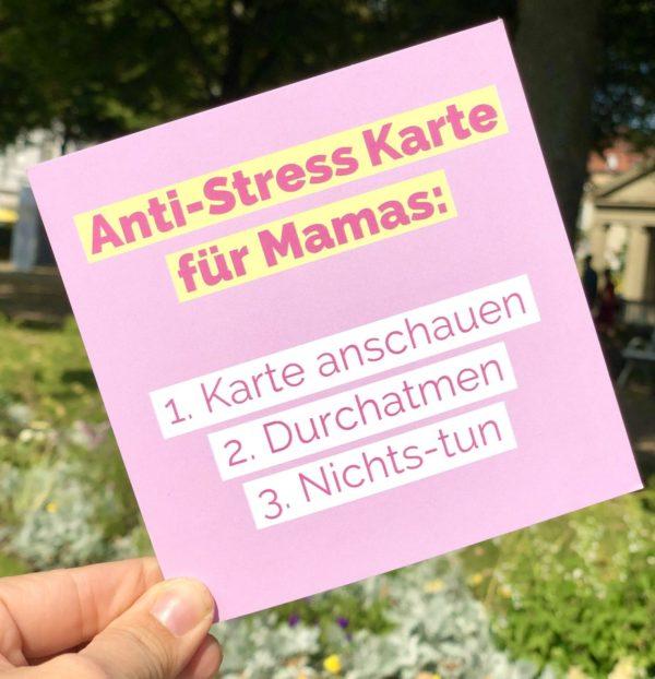 Anti Stress Tipps für Mamas - Glücks Karten