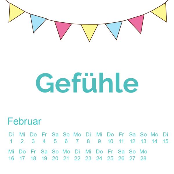 Glücks Kalender Februar